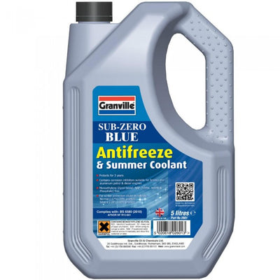 Granville Sub-Zero Blue Antifreeze & Summer Coolant 5 Litre