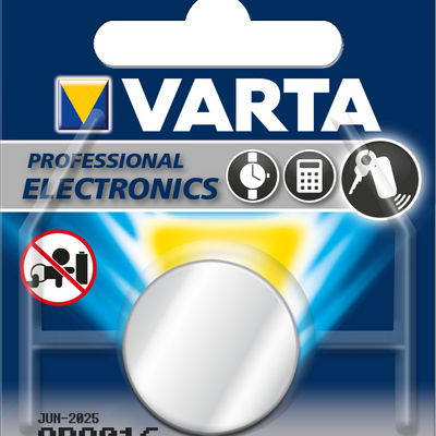 Varta CR2016 Car Alarm Battery & Car Key Fob Battery