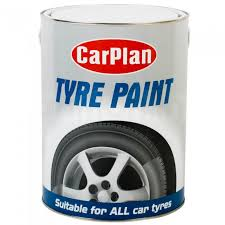 CarPlan Tyre Paint Black Tin 5 Litre