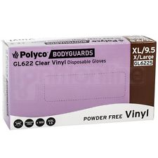 Box of 100 Polyco Bodyguards Clear Vinyl Powder Free Disposable Gloves - Small