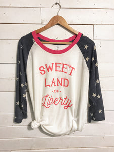 Sweet Land of Liberty Tee with Star Sleeves