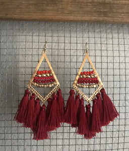 Red Gap Earrings