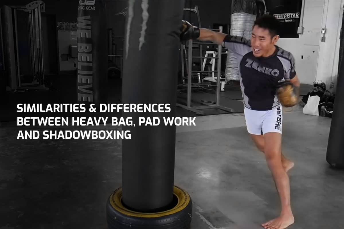 Similarities & Differences Between Heavy Bag, Pad Work and Shadowboxing