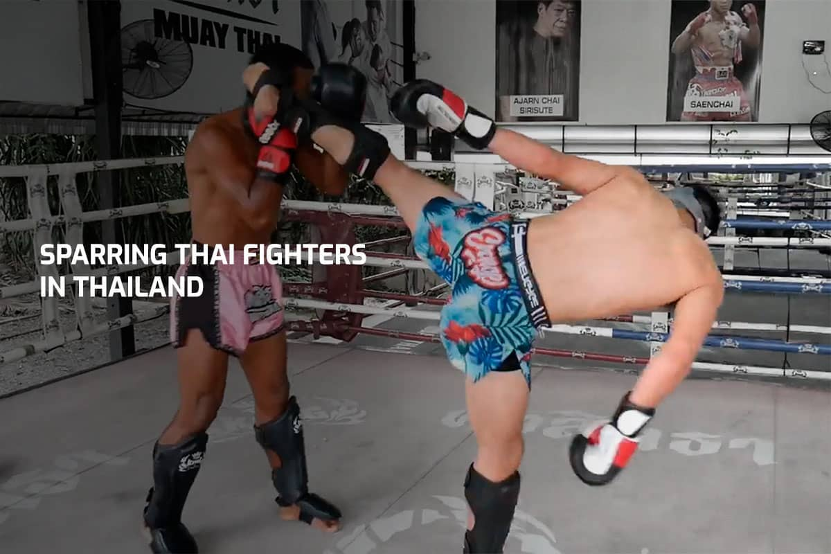 Sparring Thai Fighters in Thailand