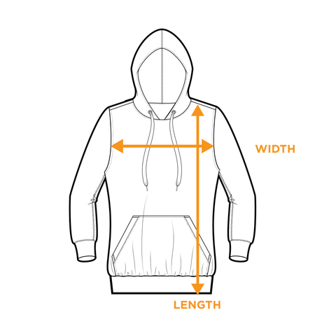 Hoodie - Size Guide