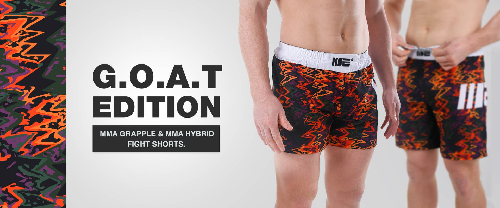Greatest of all time MMA Shorts by Engage, includes MMA grappling shorts and MMA hybrid shorts | High quality fightwear