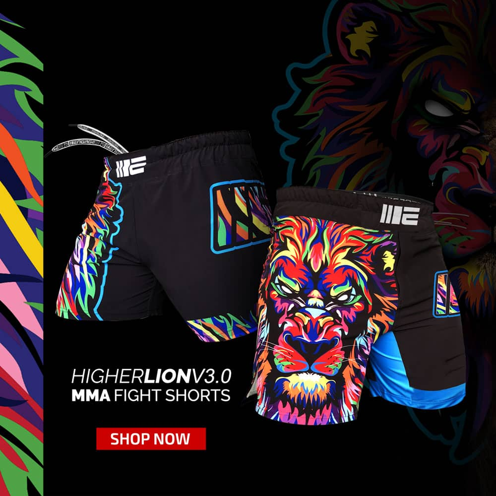 Engage Higher Lion MMA Shorts v3.0 | Top MMA Fightwear | Online MMA Store