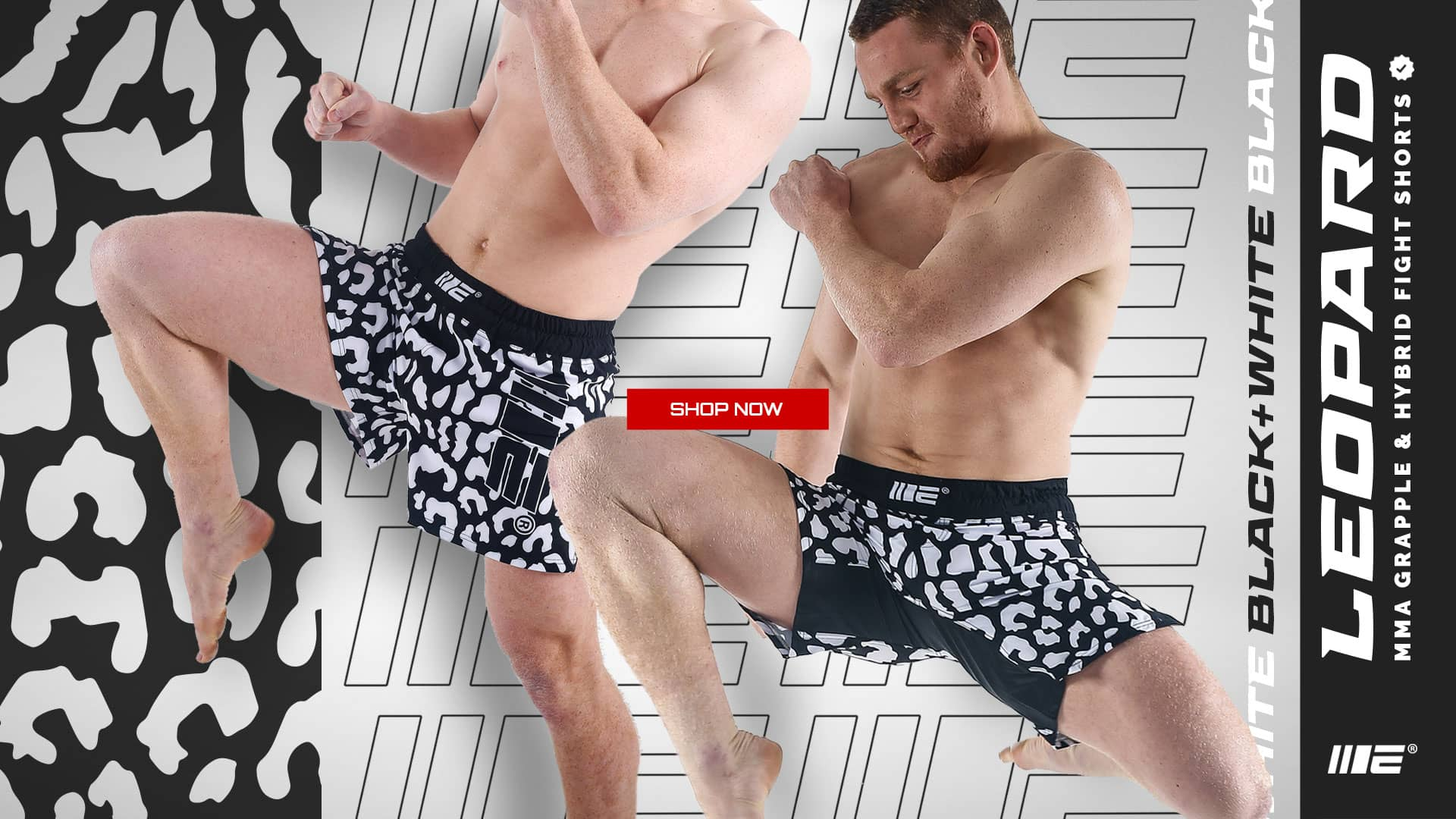 Jack Della Wearing Engage Leopard MMA Grappling and Hybrid Fight Shorts, High quality MMA Fight wear