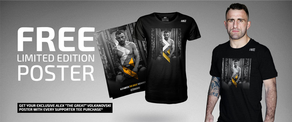 f7efc33540e Free Alex Volkanovski Poster with every supporter tee purchase