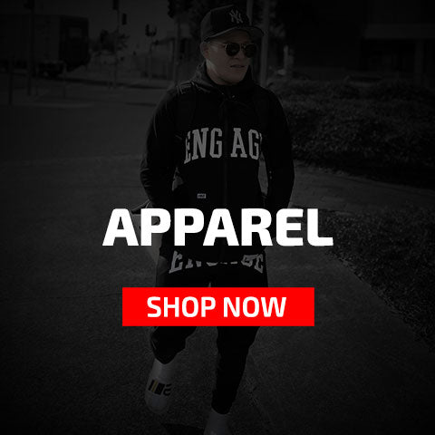 Engage MMA Apparel - Supporter Tees, Hoodies, Tracksuits, Pants, Caps, Socks, Tank Tops | MMA Online Store