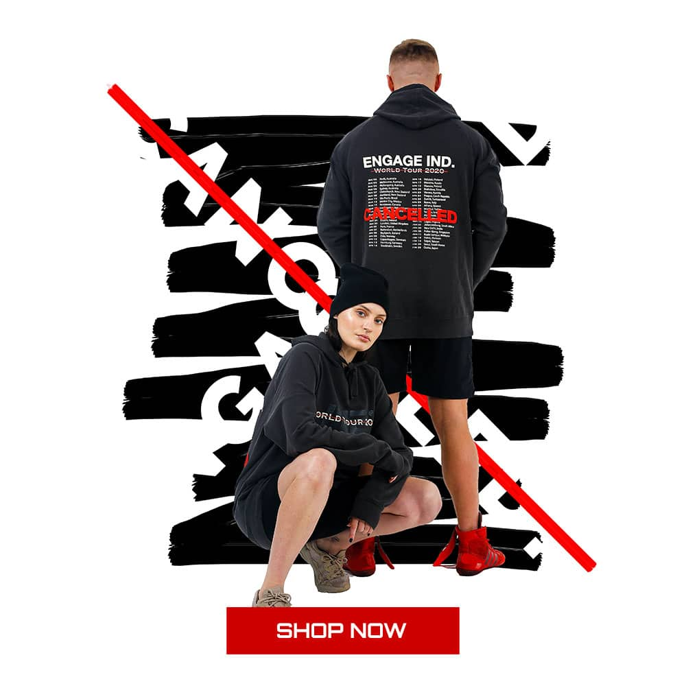 Engage World Tour Cancelled Hoodie - MMA Apparel, MMA training wear winter collection