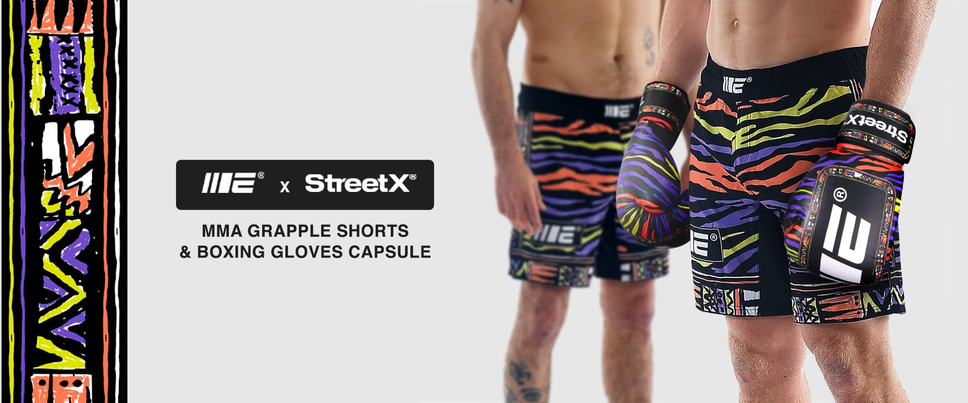 Engage MMA collaboration with Streetx | MMA Fightwear, Surf Tiger Grappling Shorts and Boxing Gloves