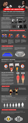 MMA vs Boxing: The Major Differences Infographic