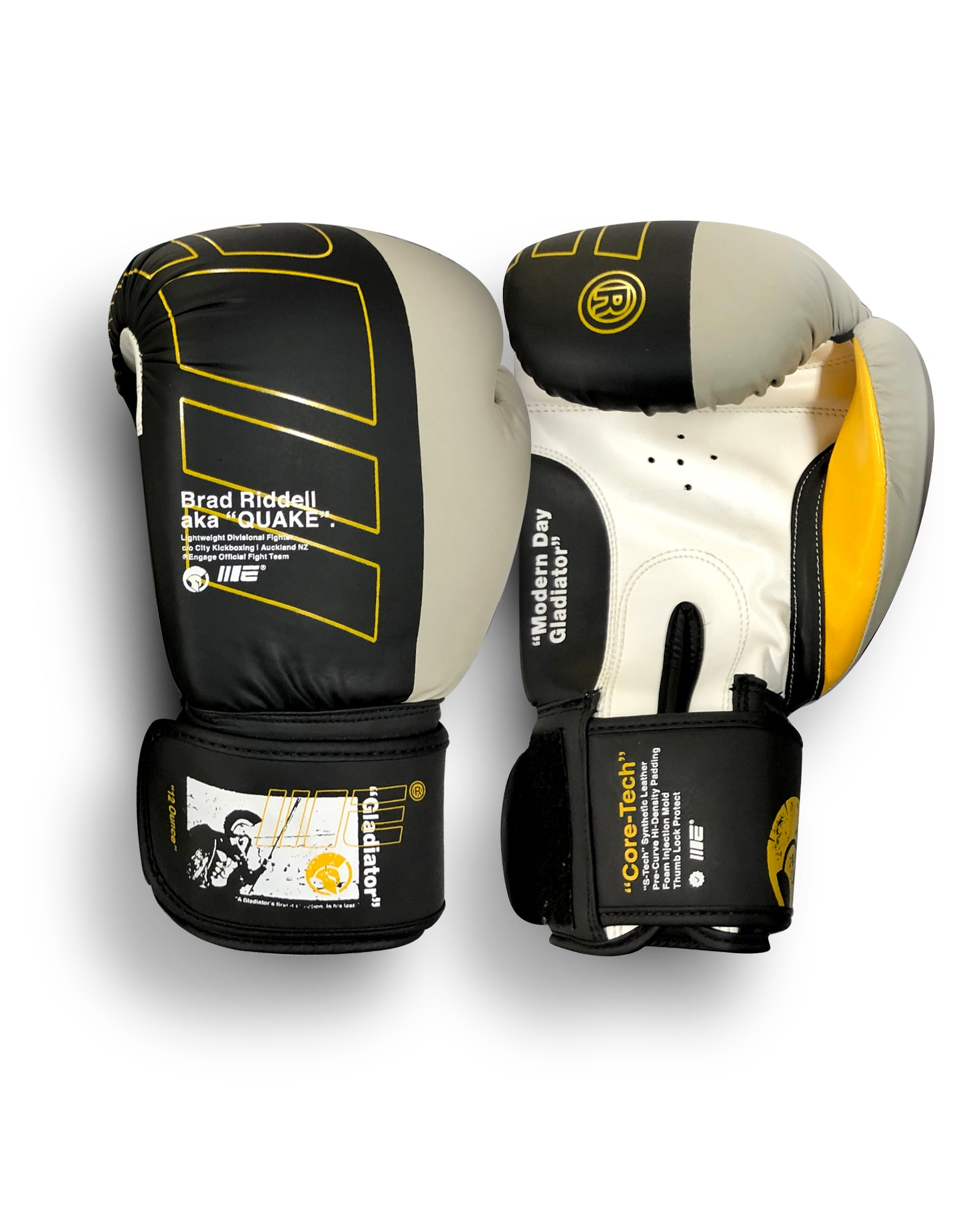 Modern Day Gladiator Brad Quake Riddell Boxing Gloves
