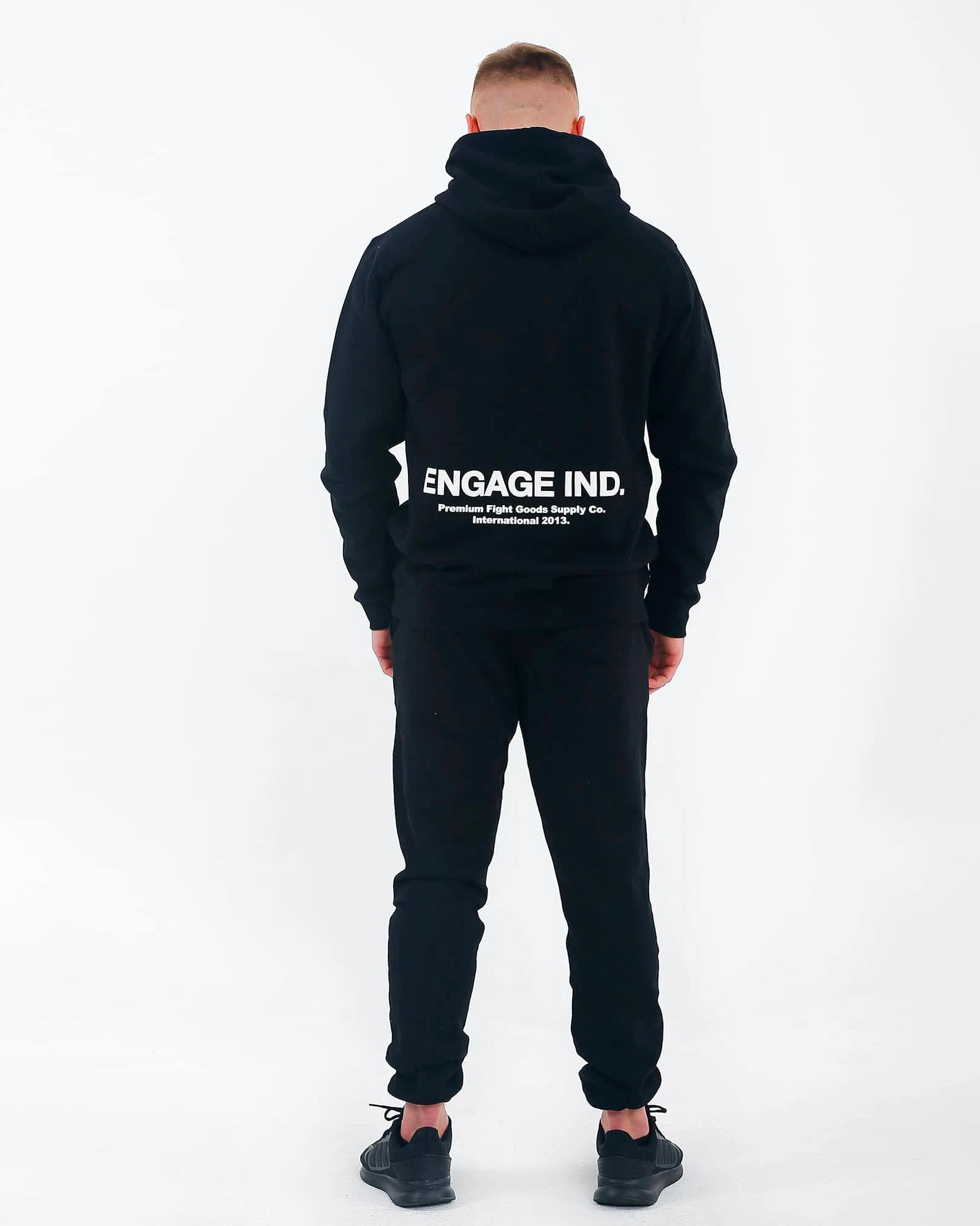 Engage Fleece Puff Print Black Hoodie