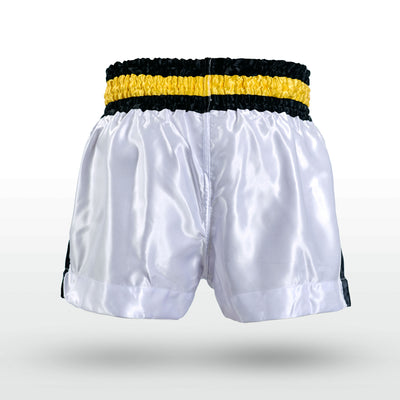 Engage Muay Thai Short Classics - White Muay Thai Shorts Engage MMA Online Fight Store for Apparel, Fightwear and Fight Gear Equipment