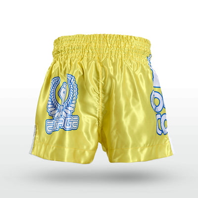 Engage Muay Thai Short Combat Coterie - Yellow Muay Thai Shorts Engage MMA Online Fight Store for Apparel, Fightwear and Fight Gear Equipment