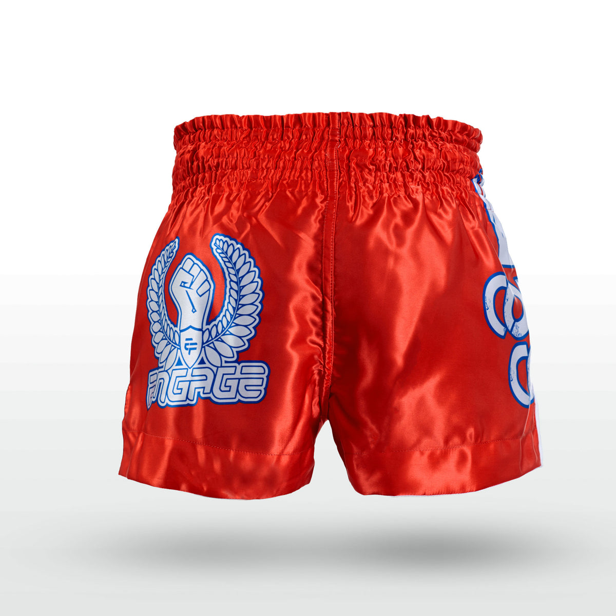 Engage Muay Thai Short Combat Coterie - Red Muay Thai Shorts Engage MMA Online Fight Store for Apparel, Fightwear and Fight Gear Equipment