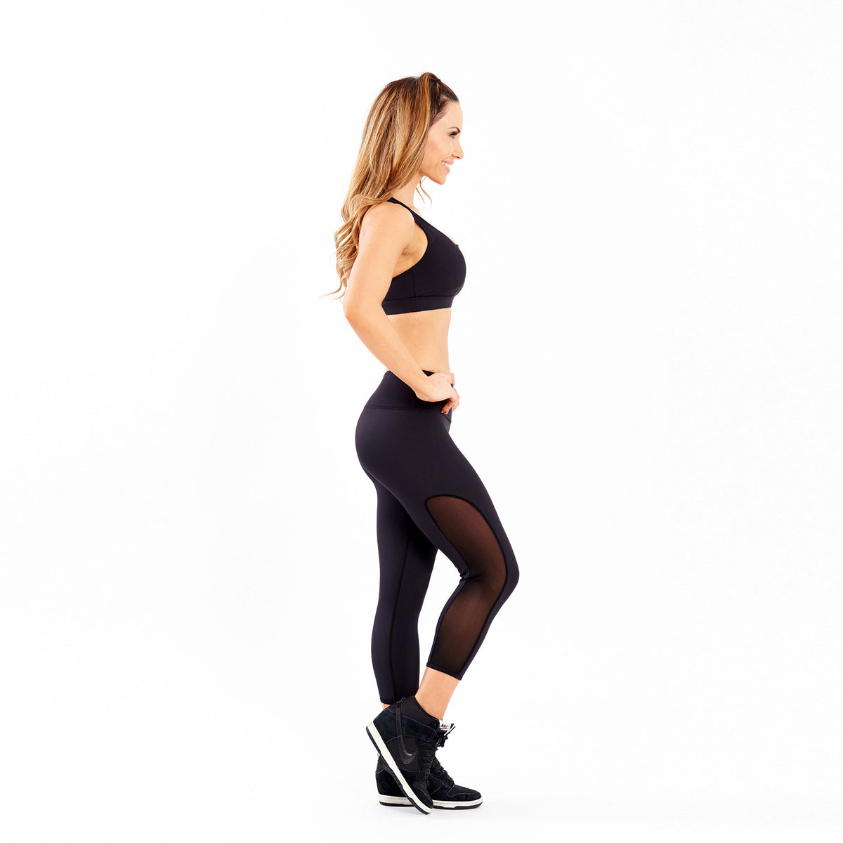 Diamond Luxe Mesh Tight 3/4 Leggings Engage MMA Online Fight Store for Apparel, Fightwear and Fight Gear Equipment