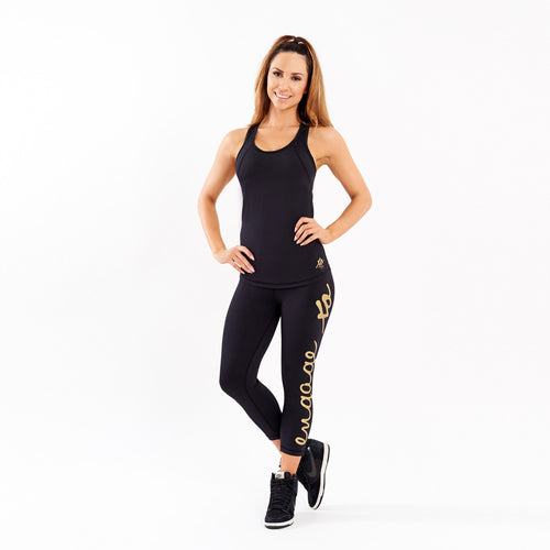 Essential Tight Gold 3/4 Leggings Engage MMA UFC fightwear online shop Australia