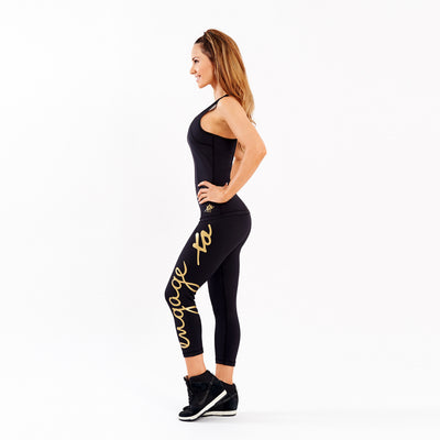 Essential Tight Gold 3/4 Leggings Engage MMA Online Fight Store for Apparel, Fightwear and Fight Gear Equipment