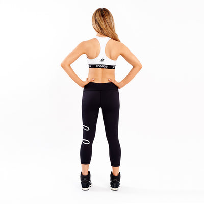 Essential Tight White 3/4 Leggings Engage MMA Online Fight Store for Apparel, Fightwear and Fight Gear Equipment