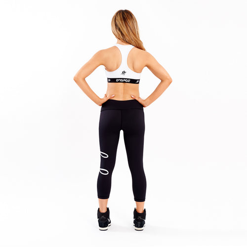 Essential Tight White 3/4 Leggings Engage MMA UFC fightwear online shop Australia