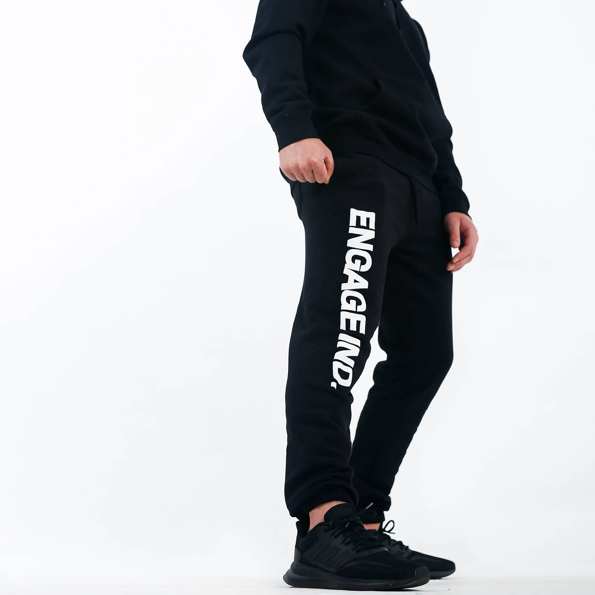 Engage Fleece Puff Print Black Track Pants