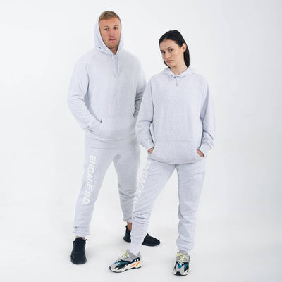 Engage Fleece Puff Print White Marl Track Pants