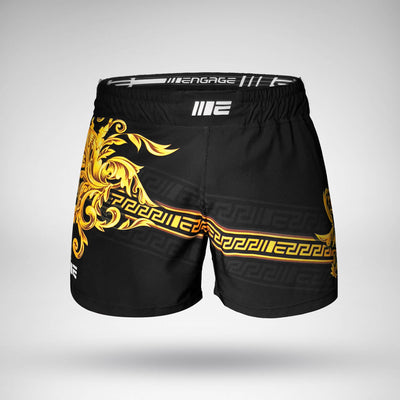 Engage Gold Barroco MMA Hybrid Fight Short MMA / K1 Shorts Engage MMA Apparel, Fight Gear and Fightwear Online Shop Australia