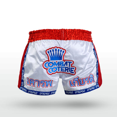 Engage Muay Thai Short Tribal Coterie - Red Muay Thai Shorts Engage MMA UFC fightwear online shop Australia