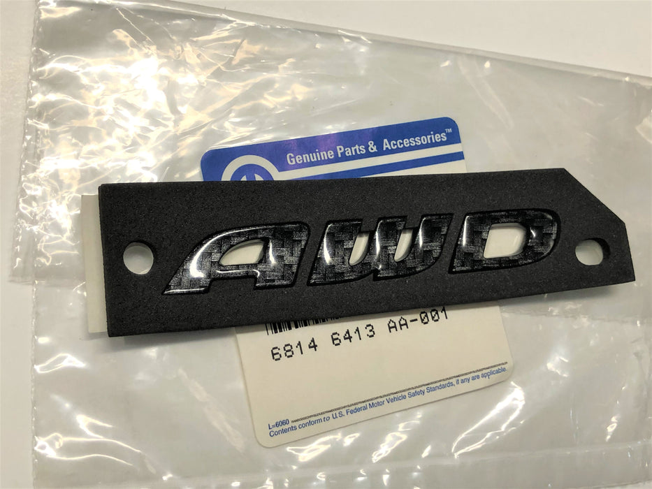 Chrysler AWD Black Carbon Fiber Emblem 200 300 2015-2021 Rear Badge Mopar OEM