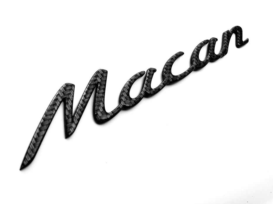 "Porsche Macan Carbon Fiber Rear Emblem ""Macan"" 15-20 Liftgate OEM Nameplate Badge"