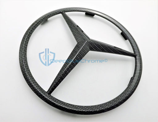 MB CL GL ML-Class Carbon Fiber Front Grille Emblem Genuine OEM Star Badge Logo