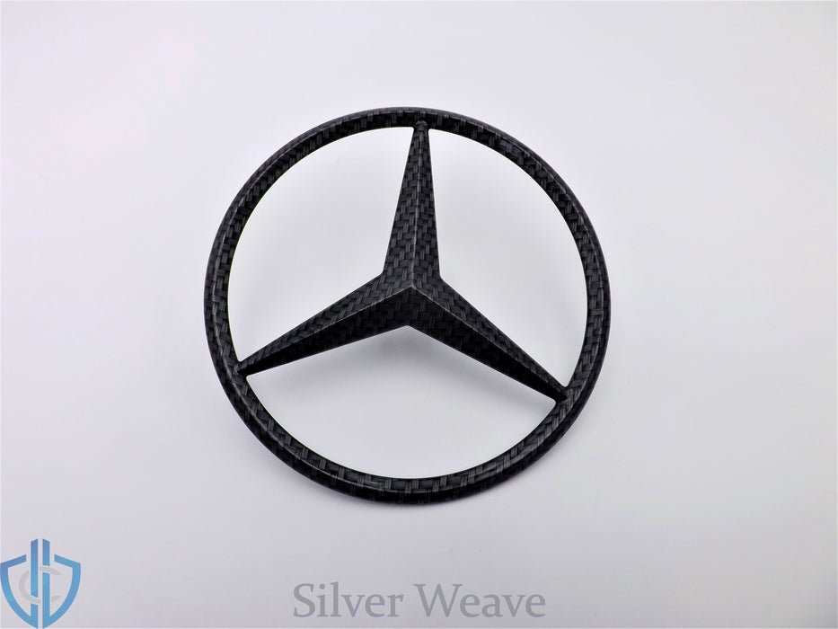 MB GLE-Class 2016-2018 GLE63 AMG Carbon Fiber Star Emblem Rear Tailgate OEM Badge Logo W166