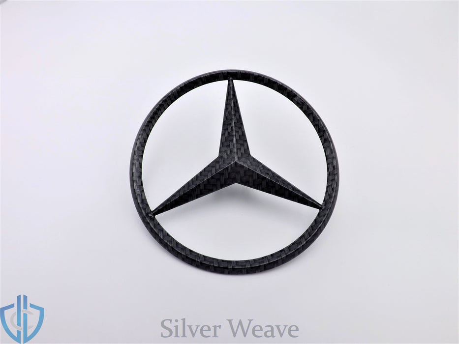 MB SLC-Class 2017 SLC43 AMG Carbon Fiber Star Emblem Rear Trunk Lid OEM Badge Logo R172