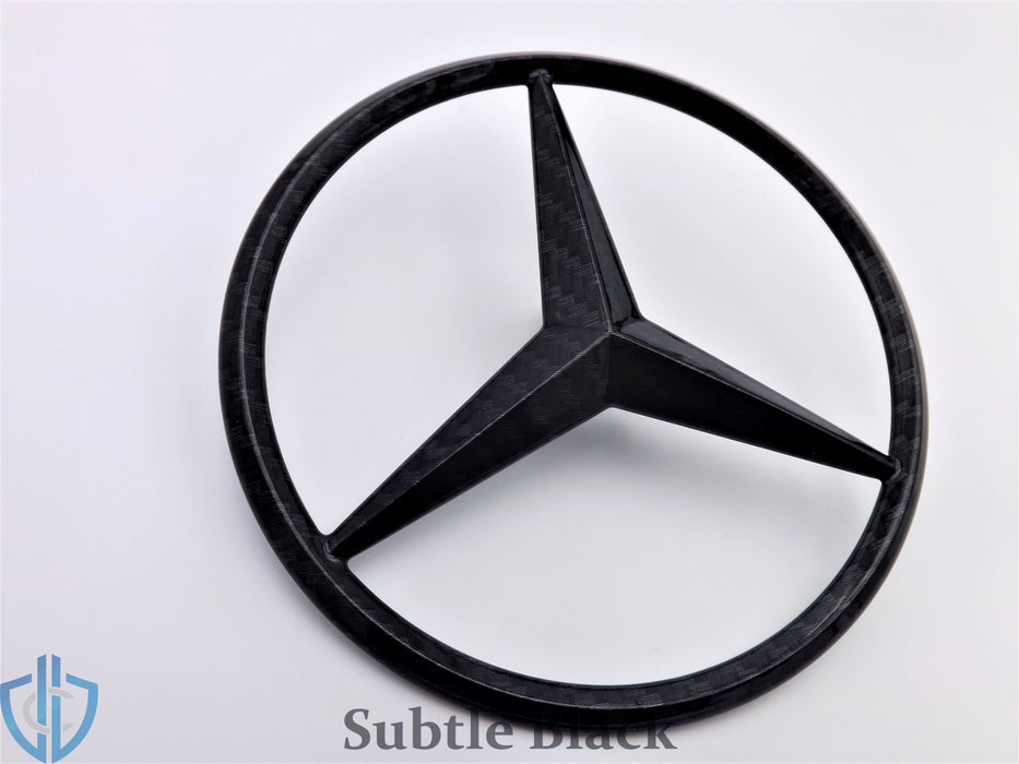MB E-Class 1986-1995 300E E320 Carbon Fiber Star Emblem Rear Trunk Lid OEM Badge Logo W124