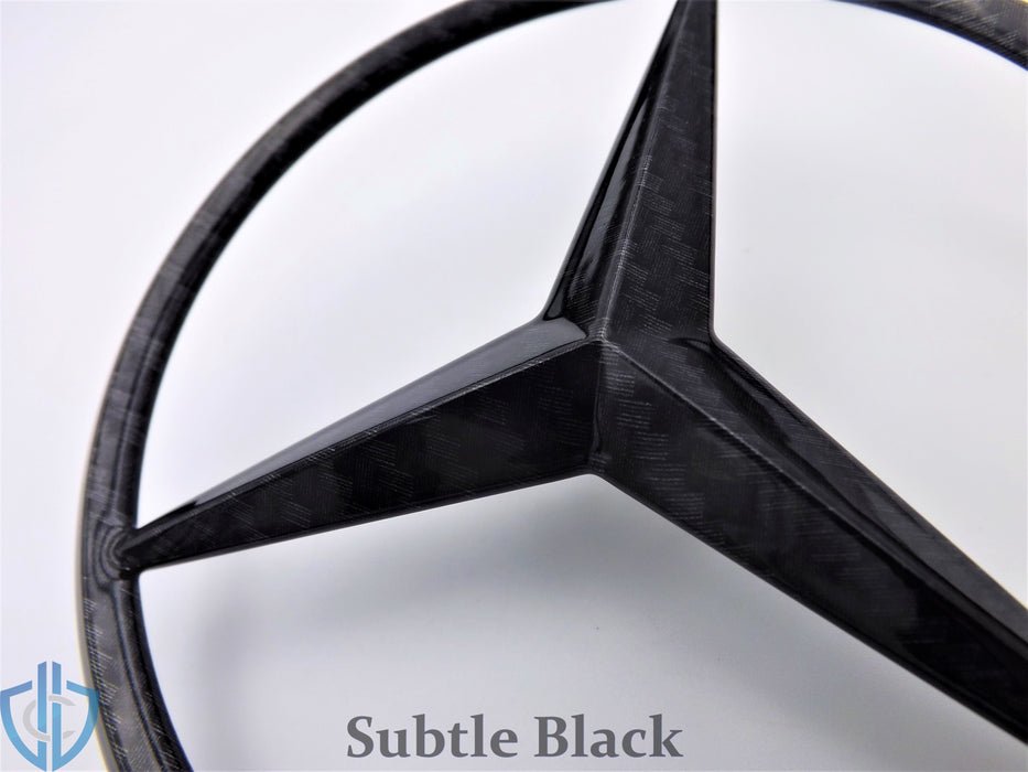 MB E-Class Sedan 1996-2002 E55 AMG Carbon Fiber Emblem Rear Trunk Lid OEM Badge Star Logo W210