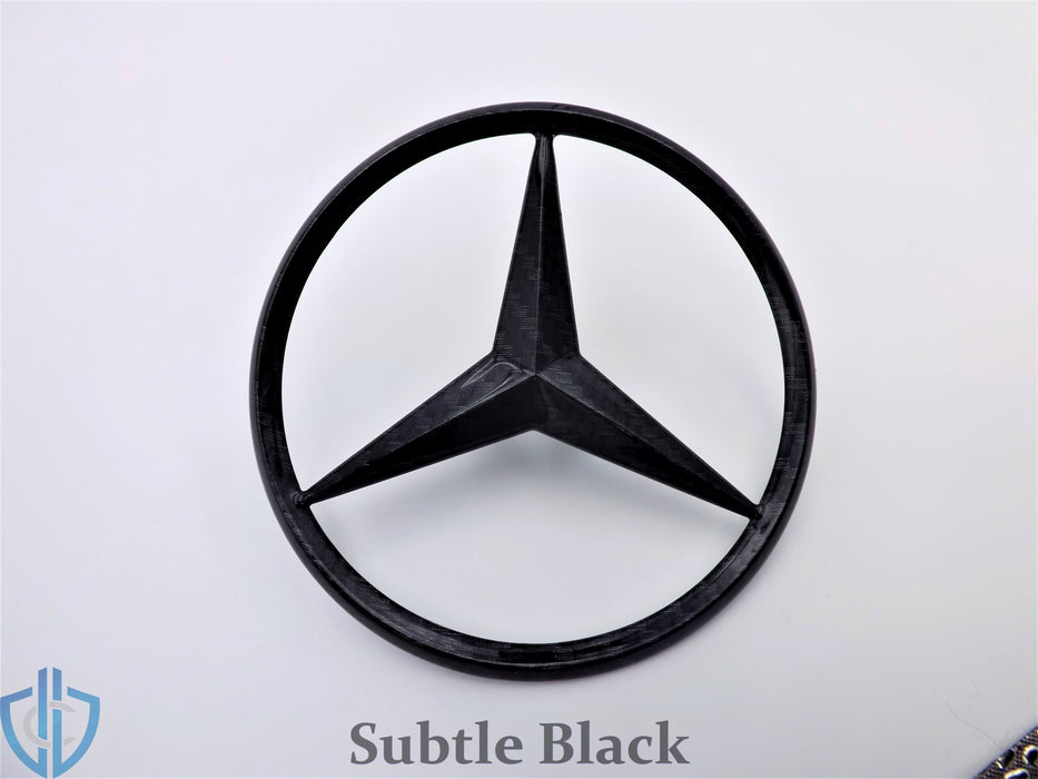 MB SL-Class 2002-2012 SL55 SL65 AMG Carbon Fiber Star Emblem Rear Trunk Lid OEM Badge Logo R230