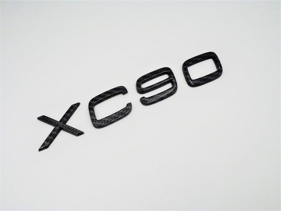 Volvo XC90 2003-2012 Black Carbon Fiber Emblem OEM Badge Rear Liftgate Hatch Nameplate