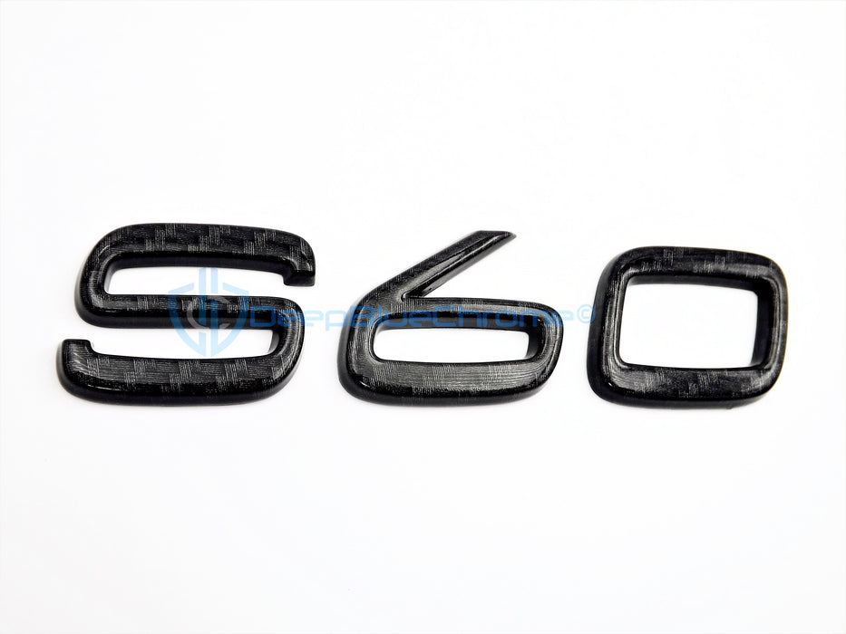 Volvo S60 2013-2018 Black Carbon Fiber Emblem OEM Badge Rear Trunk Lid Nameplate