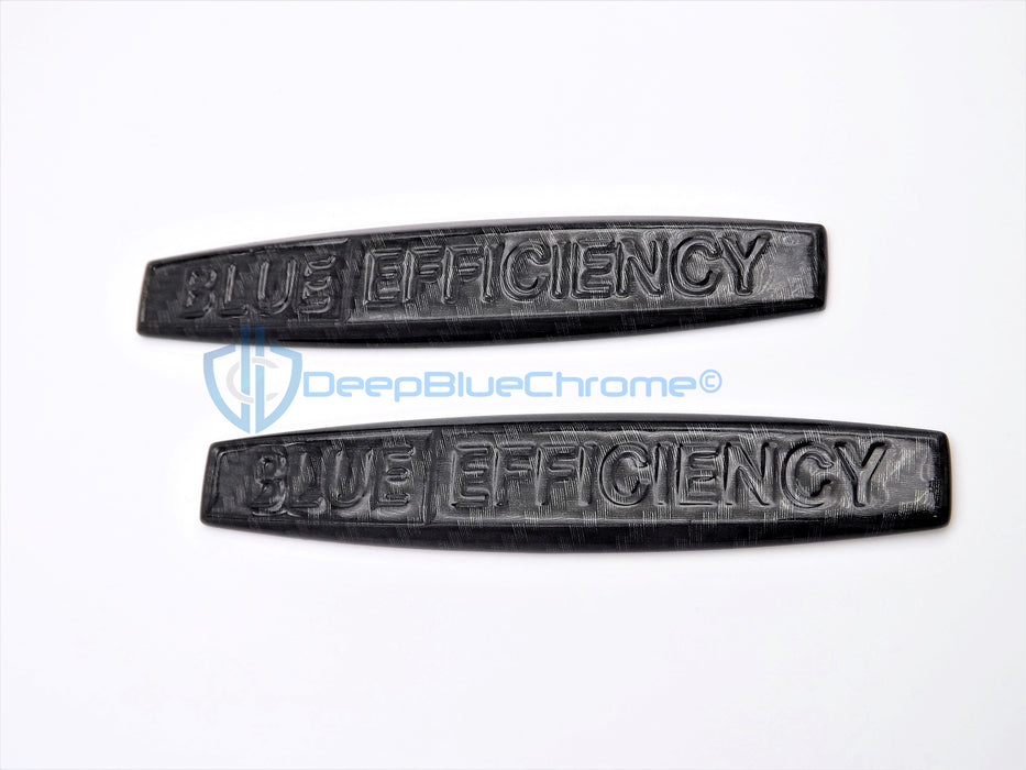 "MB C-Class CL E GL ML S Carbon Fiber ""Blue Efficiency"" Emblems x2 OEM Fender Badges"