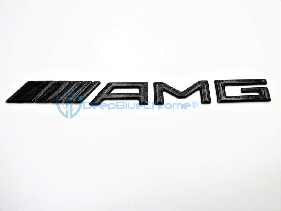 MB C CL E S SL Carbon Fiber AMG Emblem Rear Trunk Badge Genuine OEM Nameplate