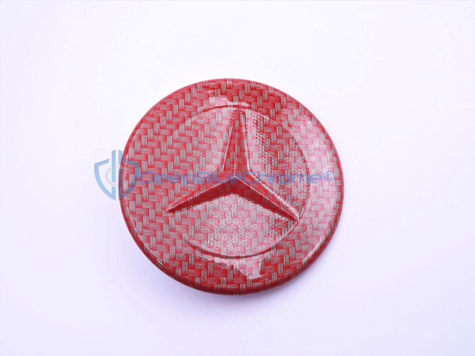 MB CL E G GLC GLE GLS ML Carbon Fiber Front Hood Star Emblem OEM Logo Badge