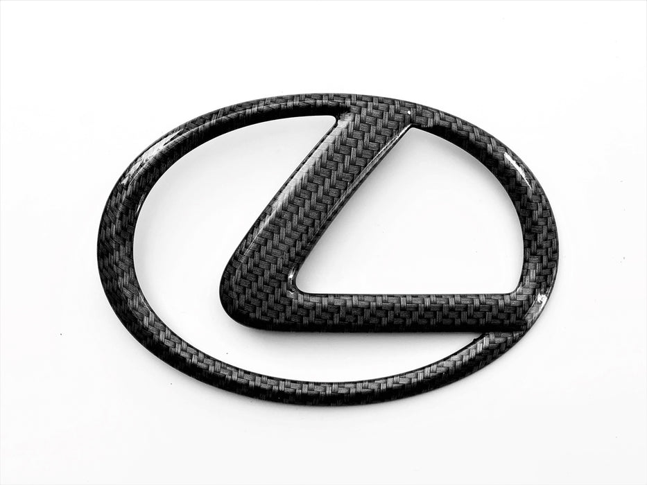 Lexus IS 06-13 Carbon Fiber Rear Trunk Emblem OEM ES GS RX Badge Logo