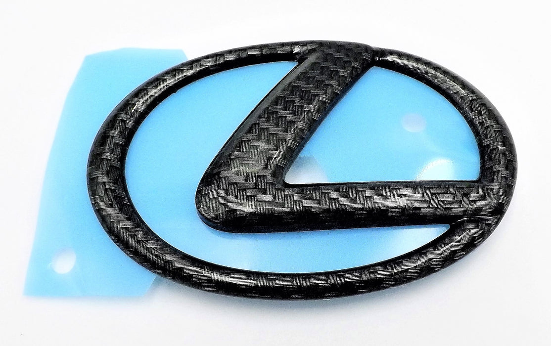 Lexus IS 14-20 Carbon Fiber Trunk Emblem OEM ES GS F Rear Badge Logo