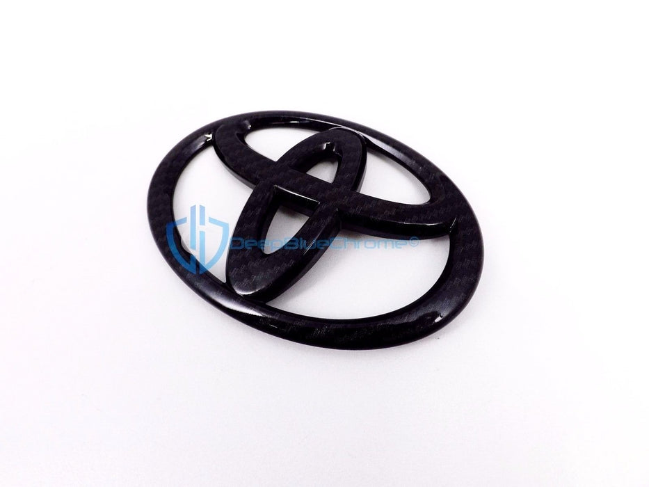 Toyota Corolla Rav4 Camry Black Carbon Fiber Emblem Rear Trunk Hatch OEM Badge Logo