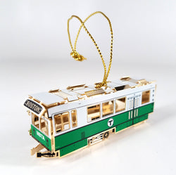 MBTA Green Line Trolley Ornament