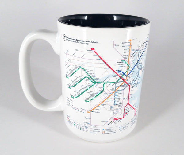 Large MBTA Rapid Transit Map Mug