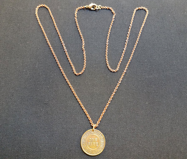 Boston MTA Token Pendant Necklace